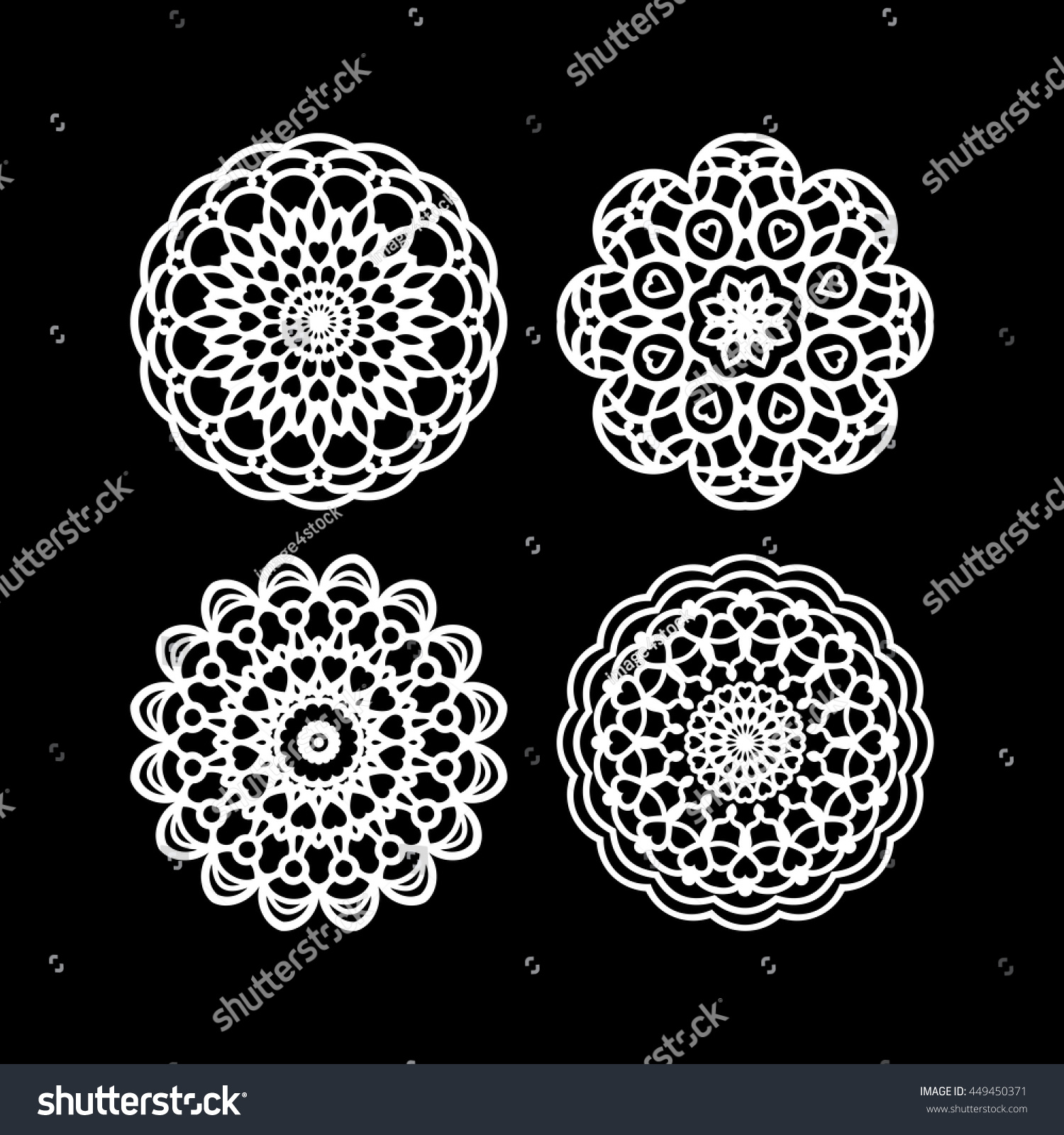 Lace Doily Hand Made Cutout Wedding Stock Photo Photo Vector