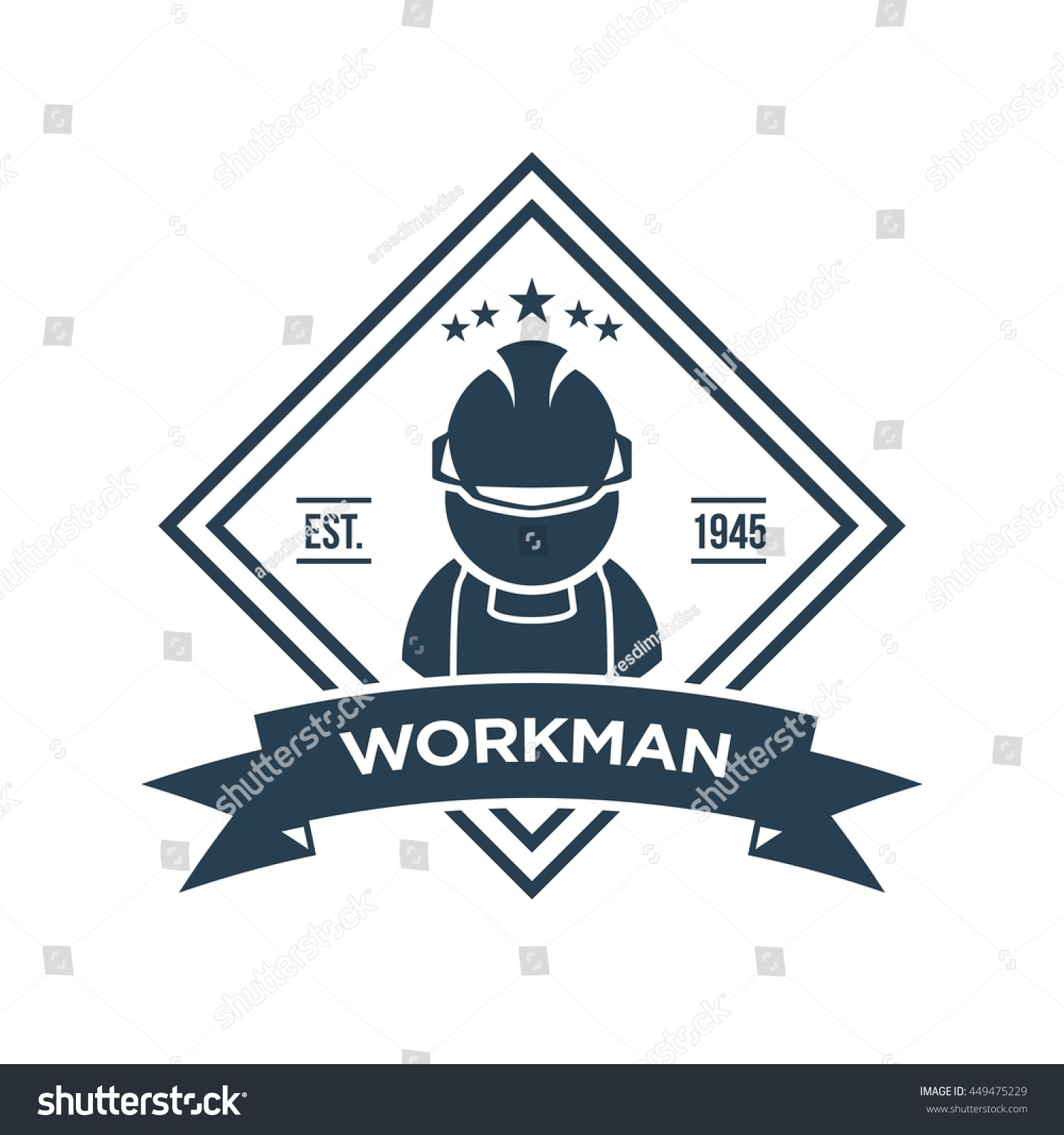Working man construction logo template stock vector 449475229 working man for construction logo template biocorpaavc Images