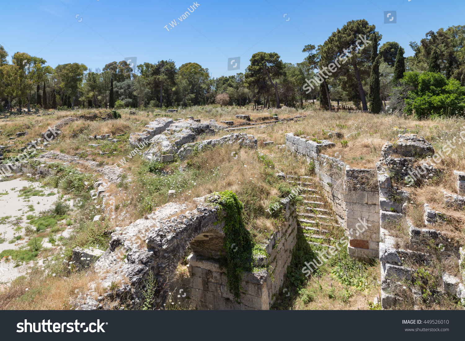 Archaeological Park of Neapolis at Syracusa, Sicily Italy #449526010