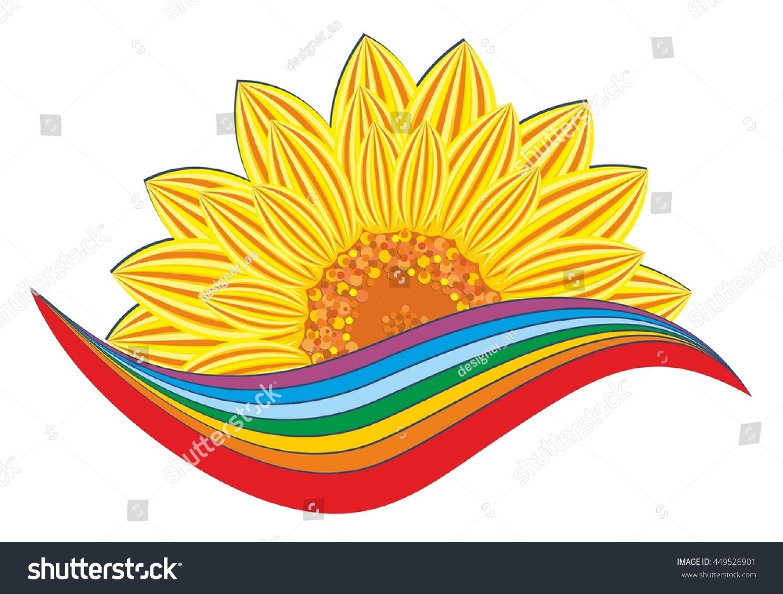 Sunflower Logo Rainbow Stock Illustration 449526901 Shutterstock
