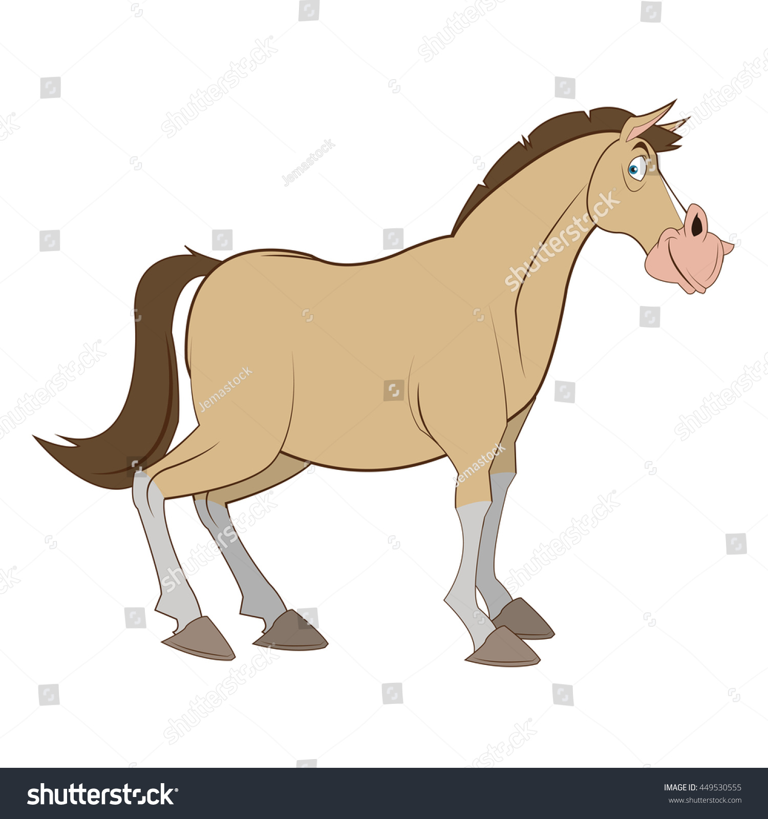 simple horse illustration