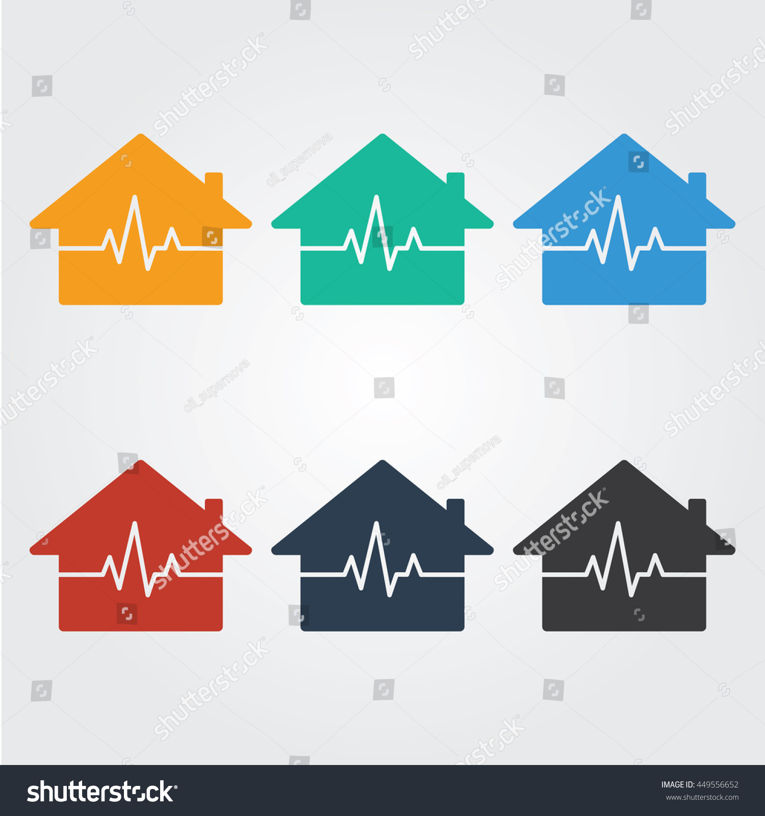 House Rate Logo Template Heart Rate Vector 449556652 – Heart Rate Chart Template