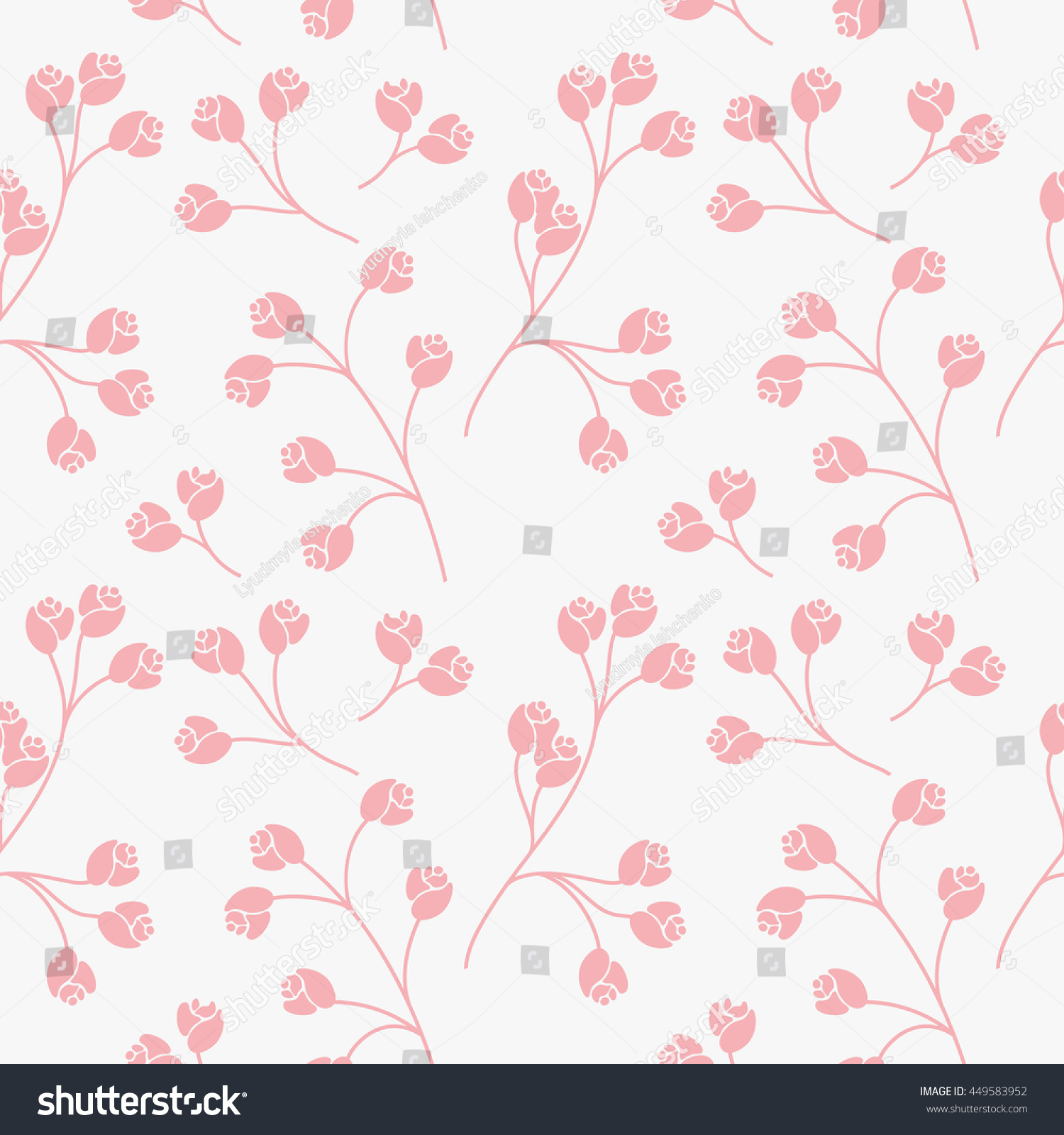 Abstract Elegance Seamless Texture With Floral Background Vintage Pattern From Flowers Wallpaper