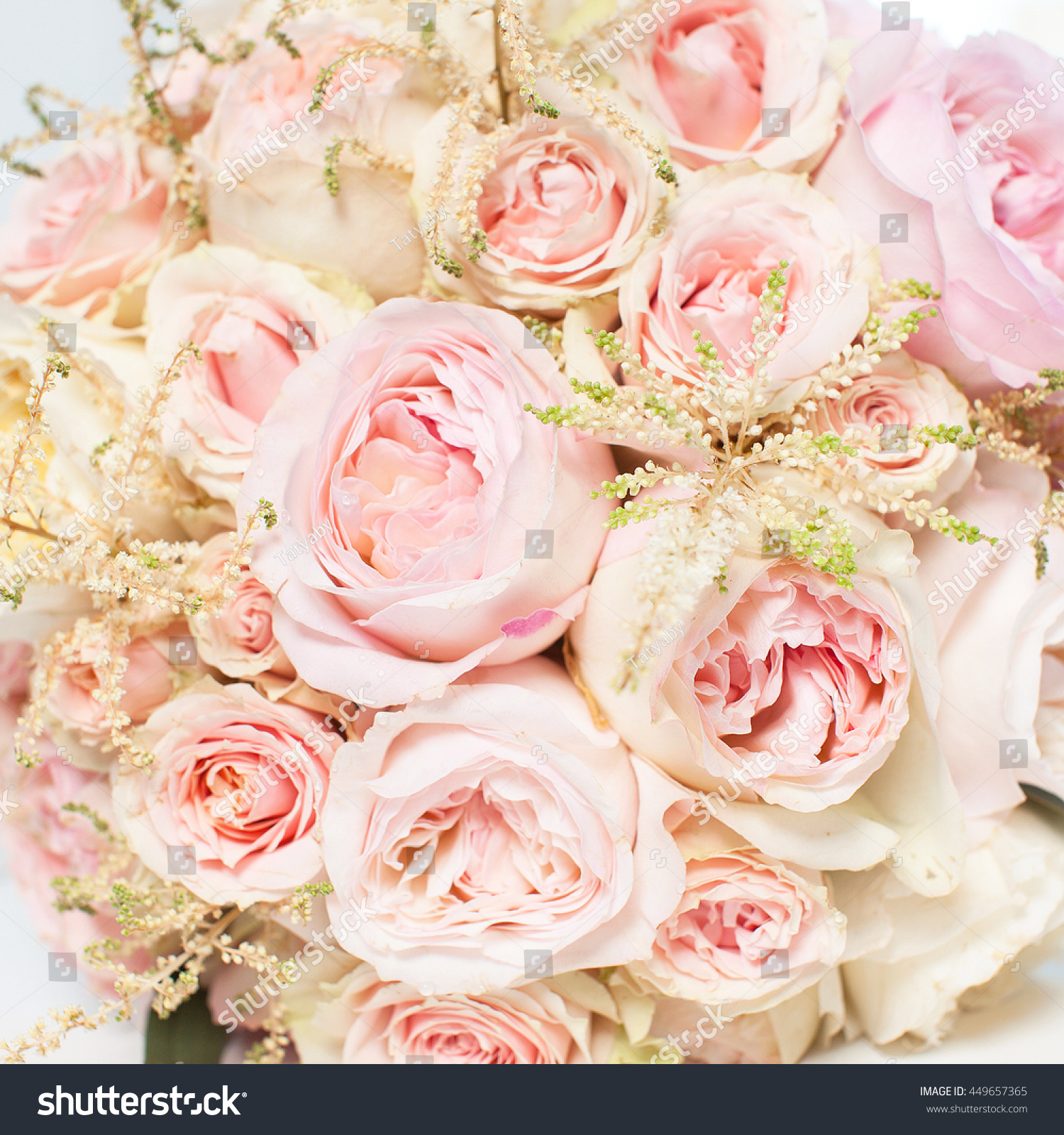 a bouquet of flowers on a white background wedding bouquet of pink ...