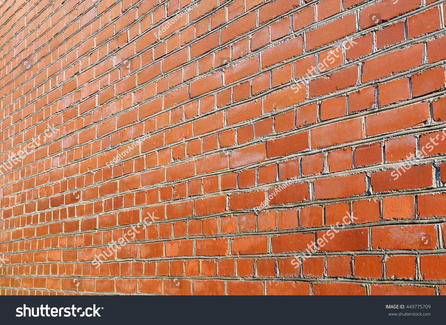 Red Brick Wall Side View