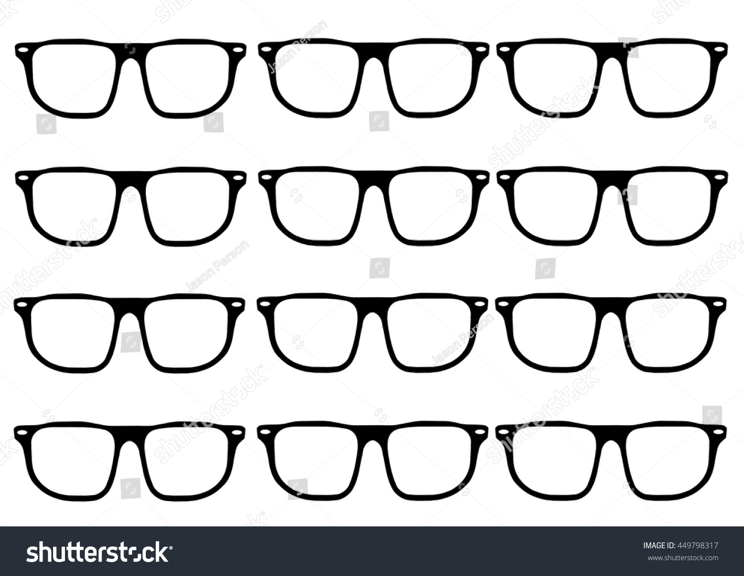 Hipster Glasses Frames Grid Stock Vector HD (Royalty Free) 449798317 ...