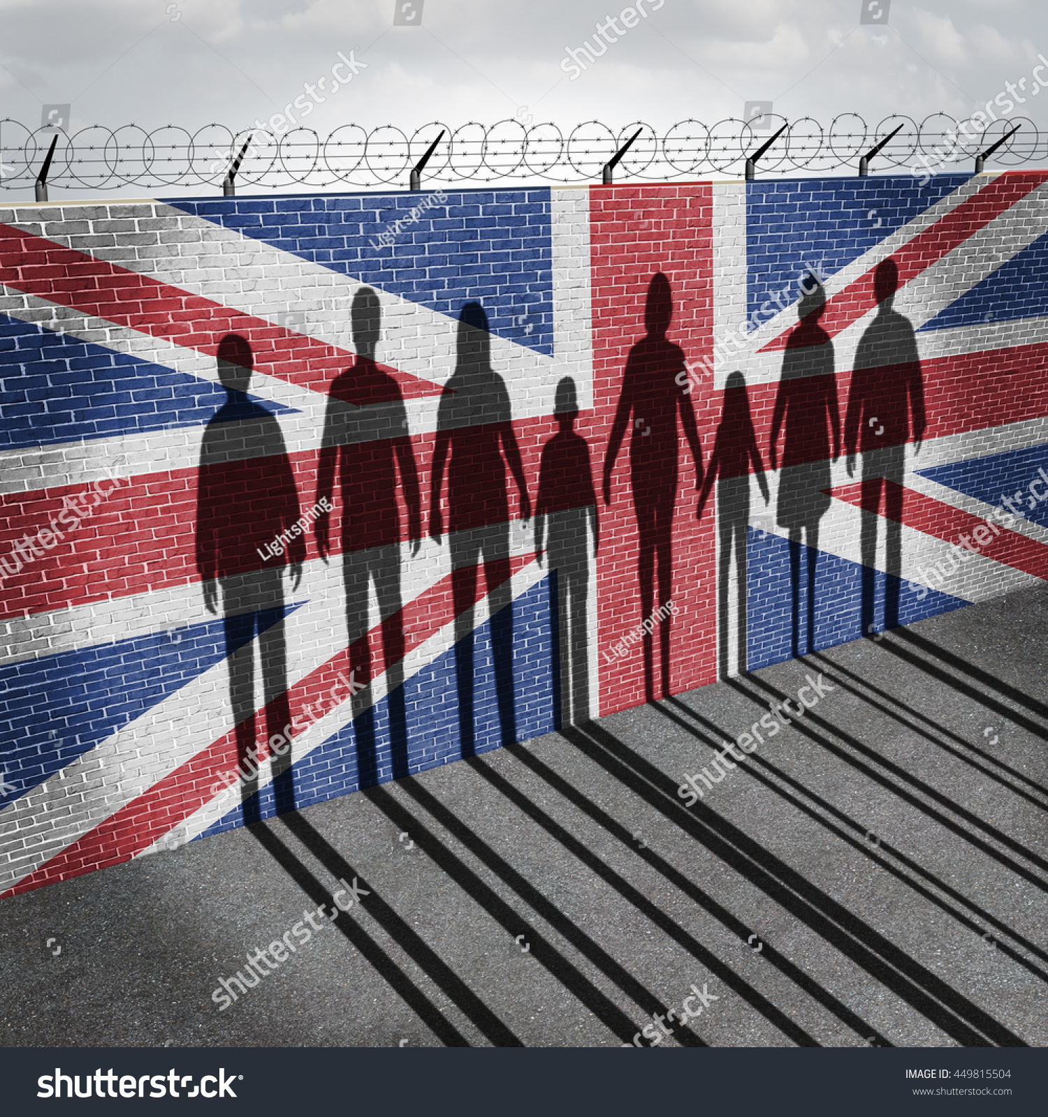 britain immigration refugee crisis concept people stock