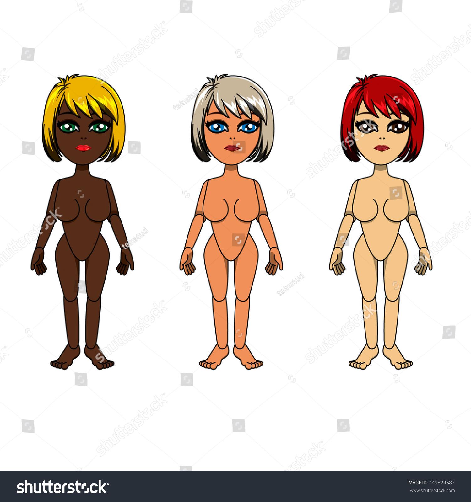 Vector Character Design Anatomy Woman Girl Stock Vector HD (Royalty ...