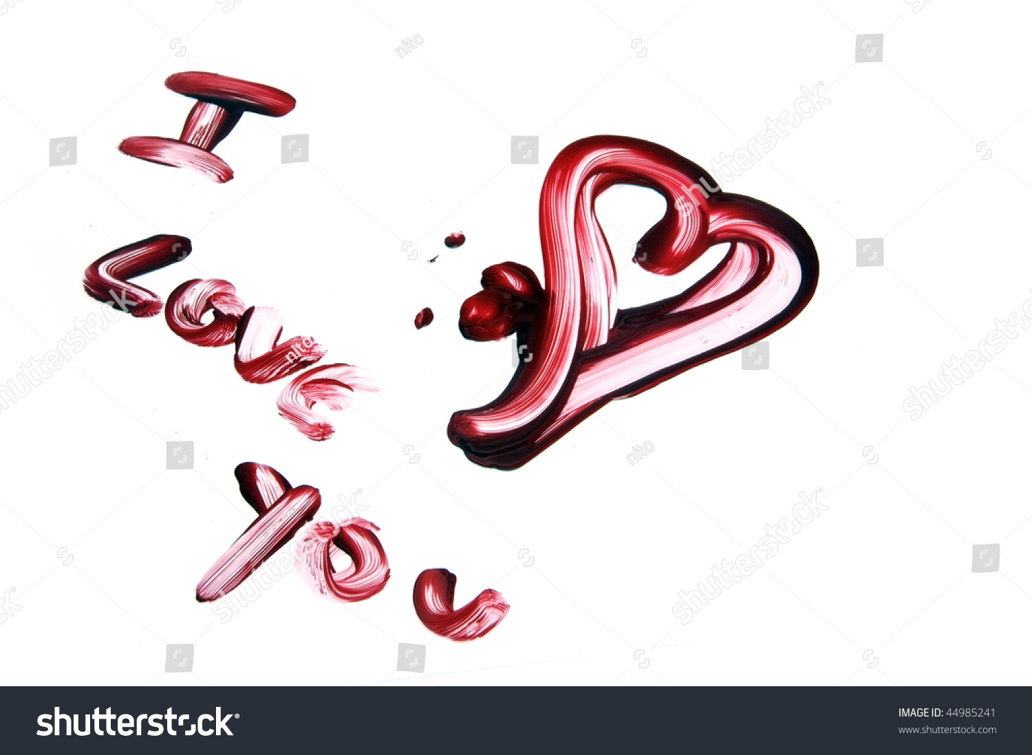 love you drawing blood on white stock photo (royalty free) 44985241