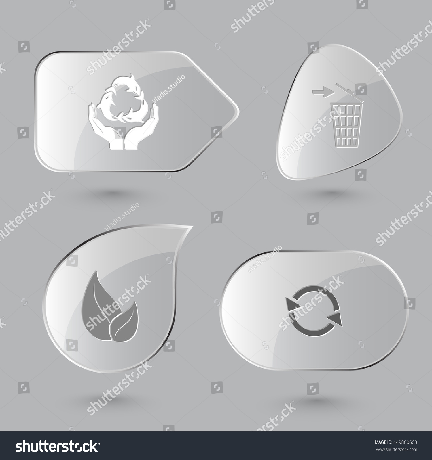 4 images protection sea life recycling stock vector 449860663 4 images protection sea life recycling bin leaf recycle symbol nature biocorpaavc Choice Image