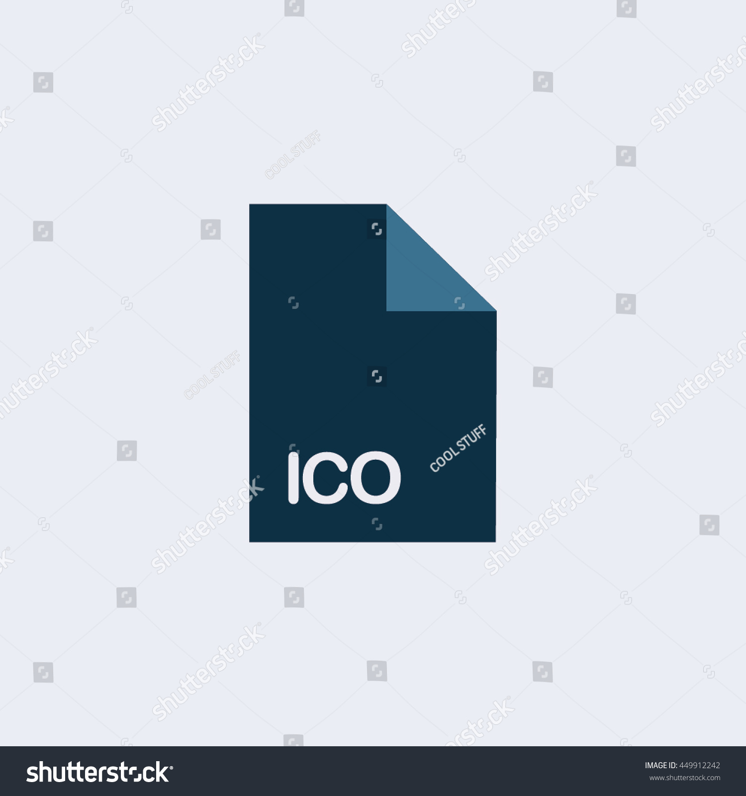 ico icon ico file iconextension icon stock vector 449912242 shutterstock. Black Bedroom Furniture Sets. Home Design Ideas