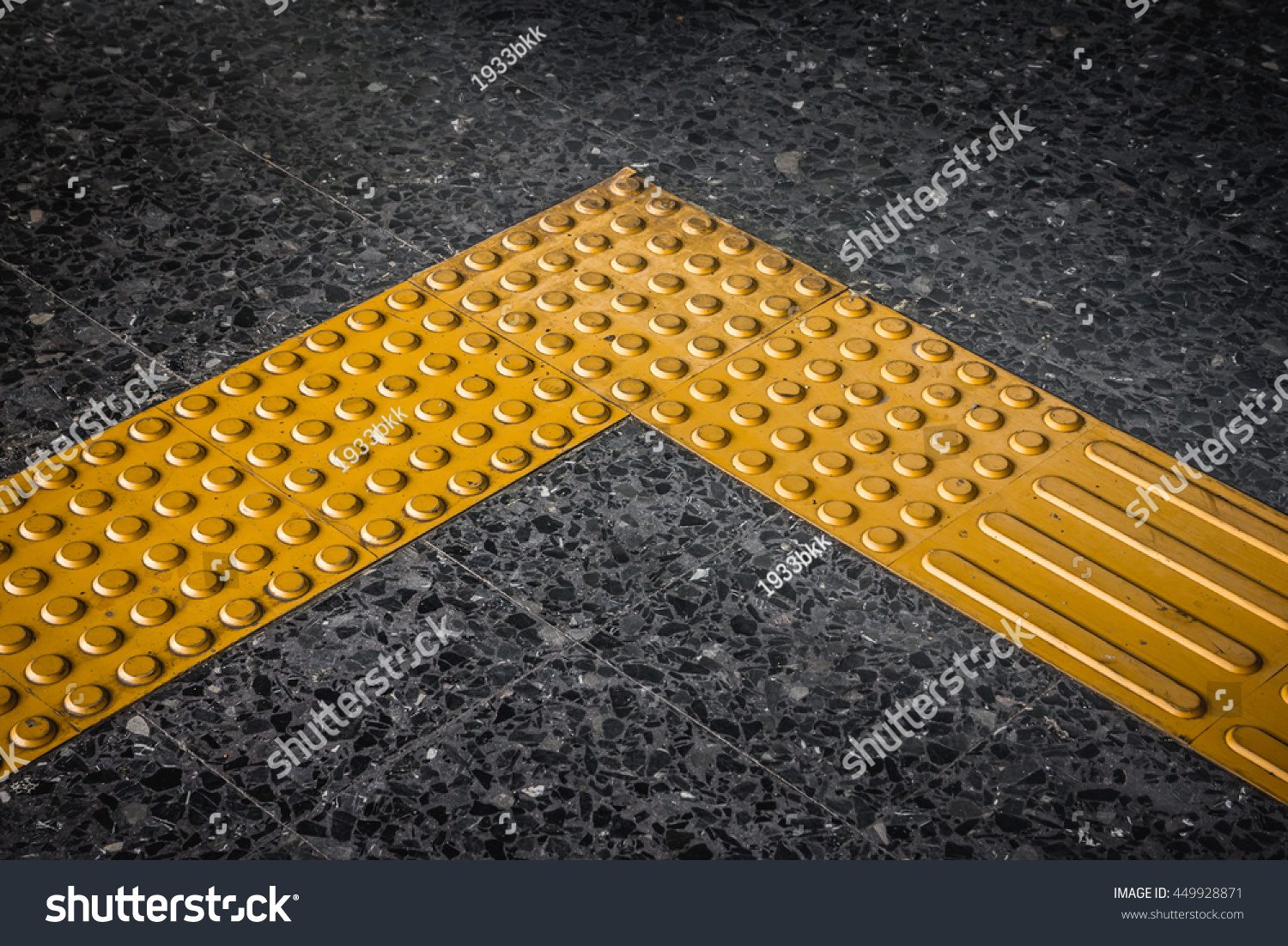 Braille Block Tactile Paving For Blind Handicap Stock