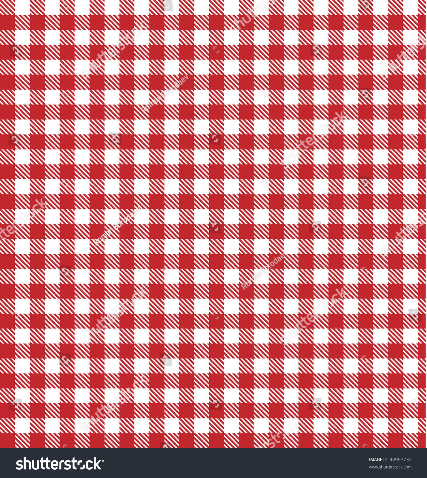 Red Picnic Table Cloth, Plaid, Gingham, Blanket Vector Background.  Tablecloth Check Pattern