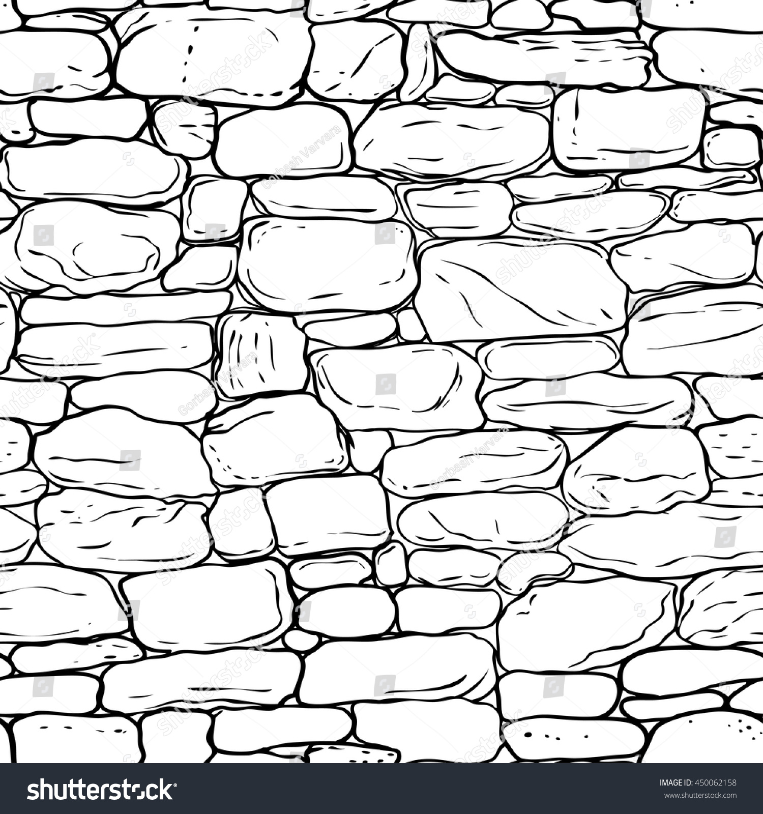 Brick Vector Picture Brick Veneers: Vector Handdrawn Texture Brick Wall Sett Stock Vector