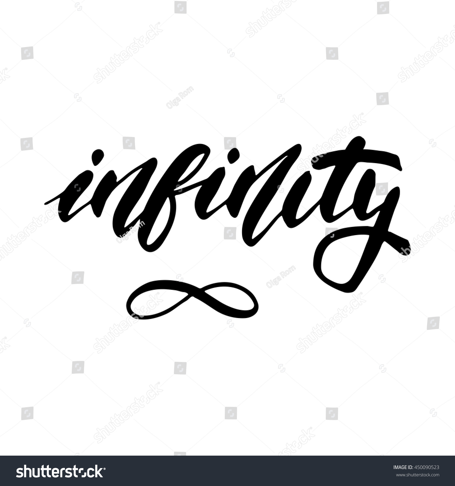 Infinity Symbol Inspirational Lettering Design Posters Stock Vector