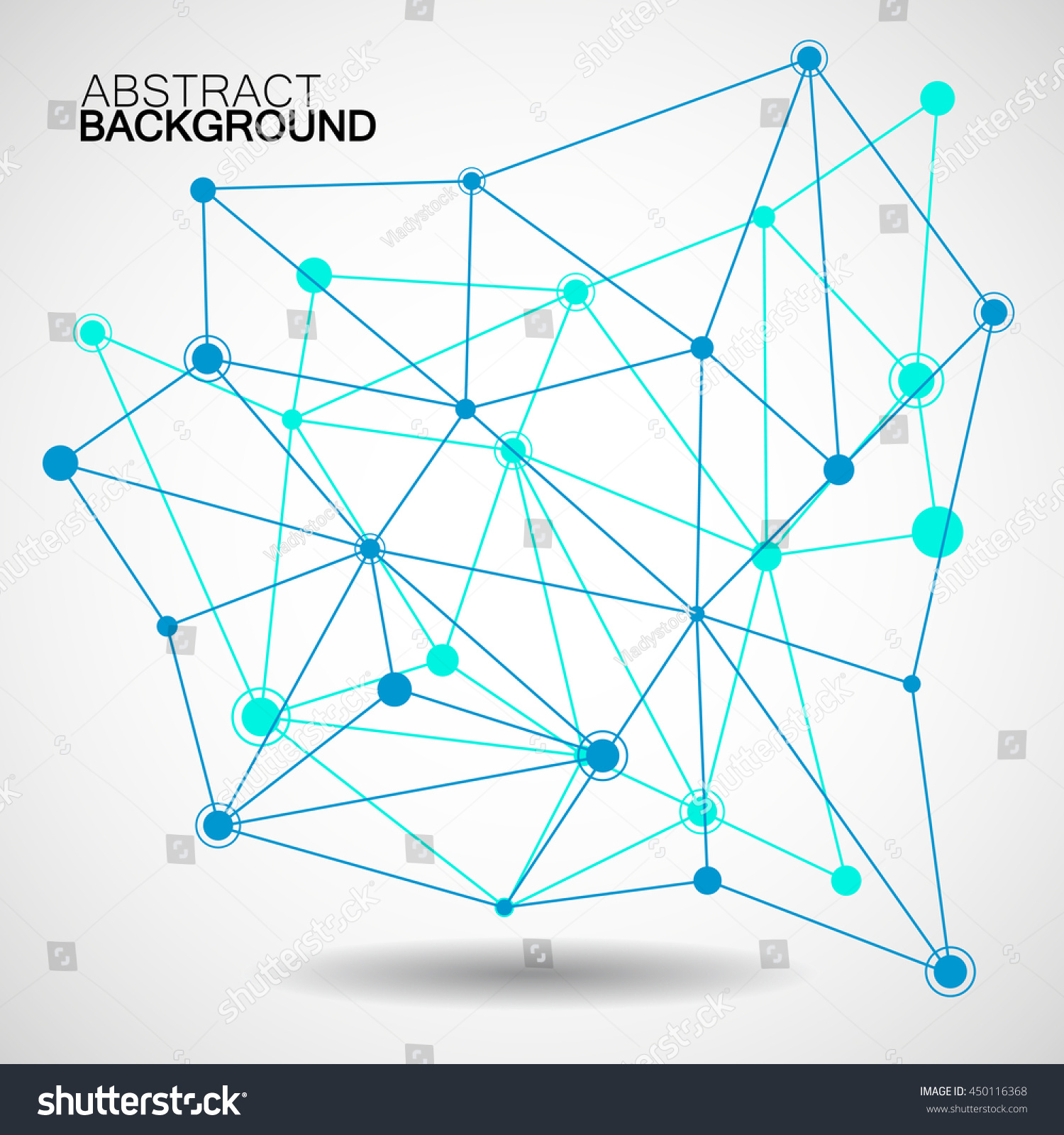 Wireframe Mesh Dot Line Network Connection Stock Vector (Royalty ...