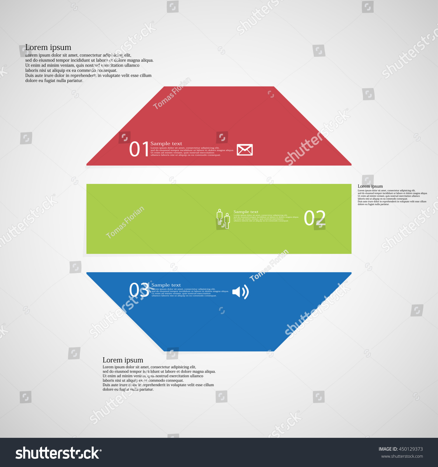 Illustration Infographic Template Shape Octagon Object Stock Vector