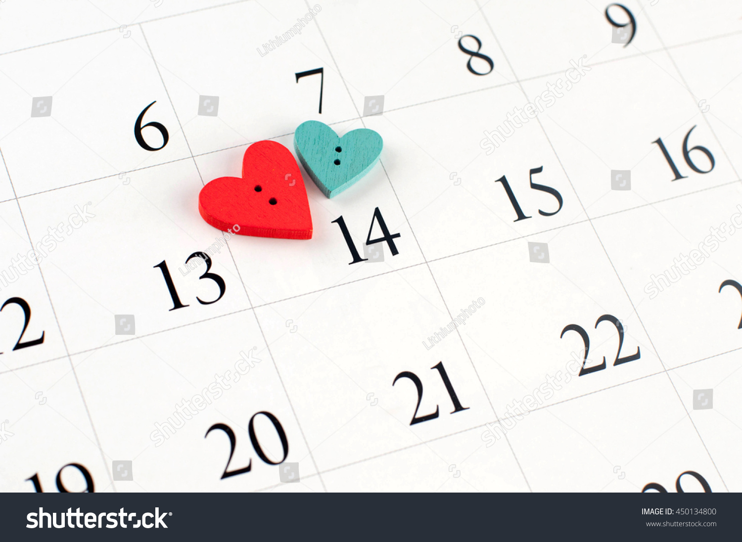 Closeup wooden heart on calendar page stock photo 450134800 closeup of wooden heart on the calendar page on data 14th small depth of field buycottarizona Gallery