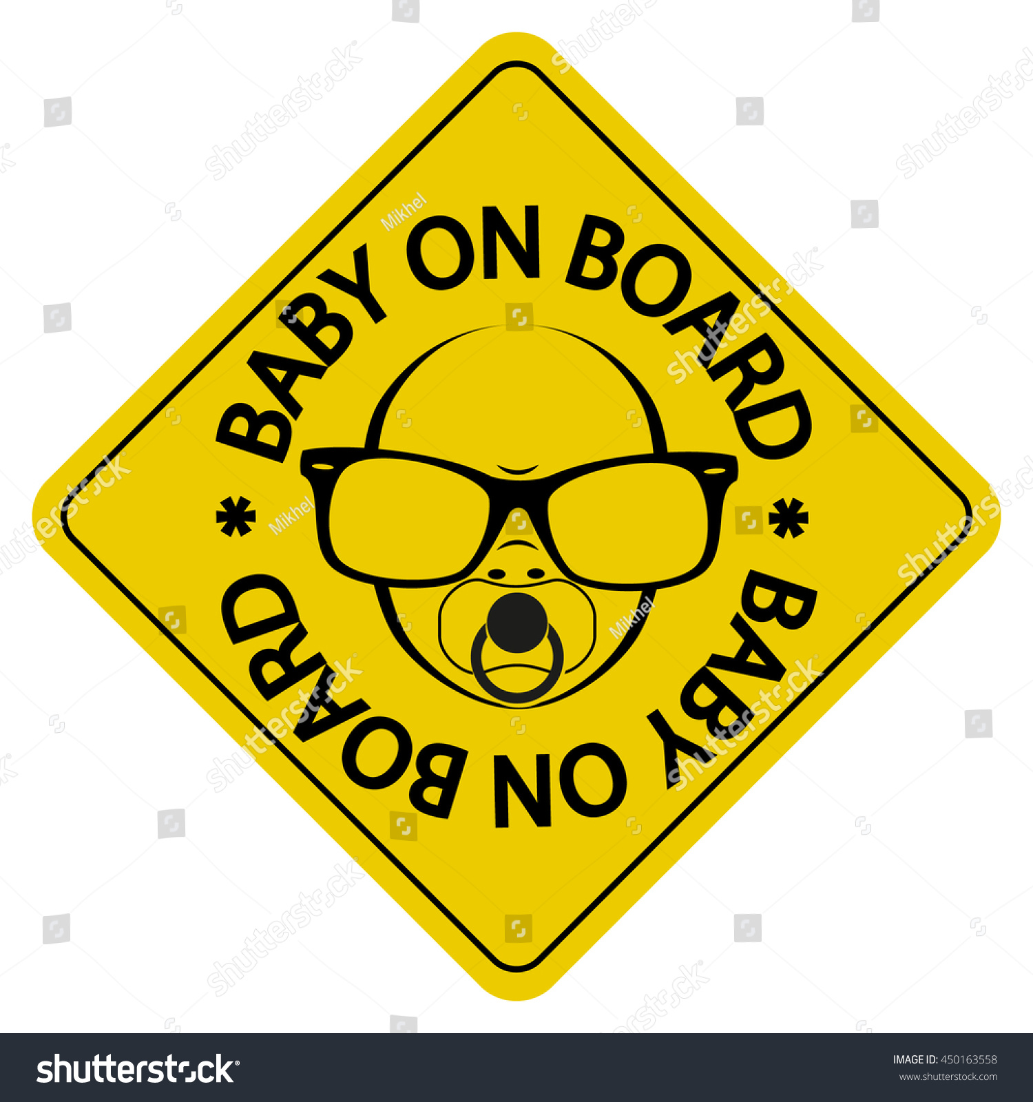 baby on board sign car sticker