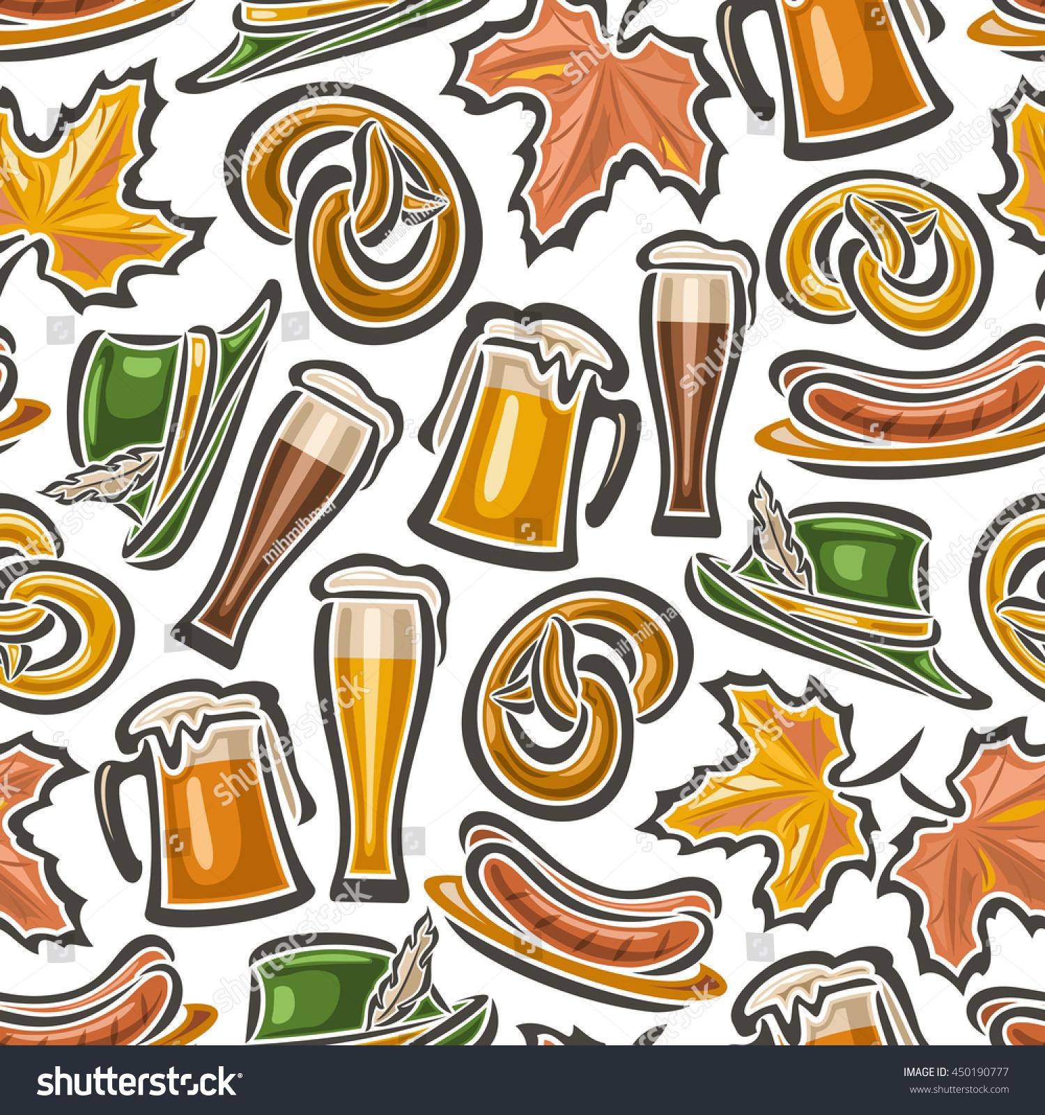 Vector Background Bavarian Seamless Pattern Oktoberfest ...