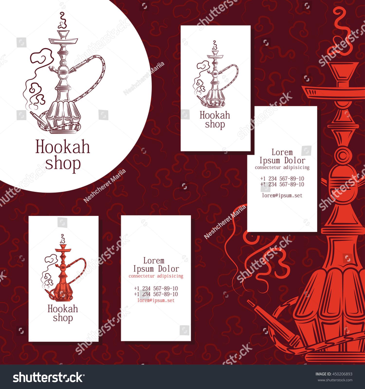 Logo hookah shop set business cards stock vector 450206893 logo for hookah shop set of business cards for hookah shop magicingreecefo Choice Image