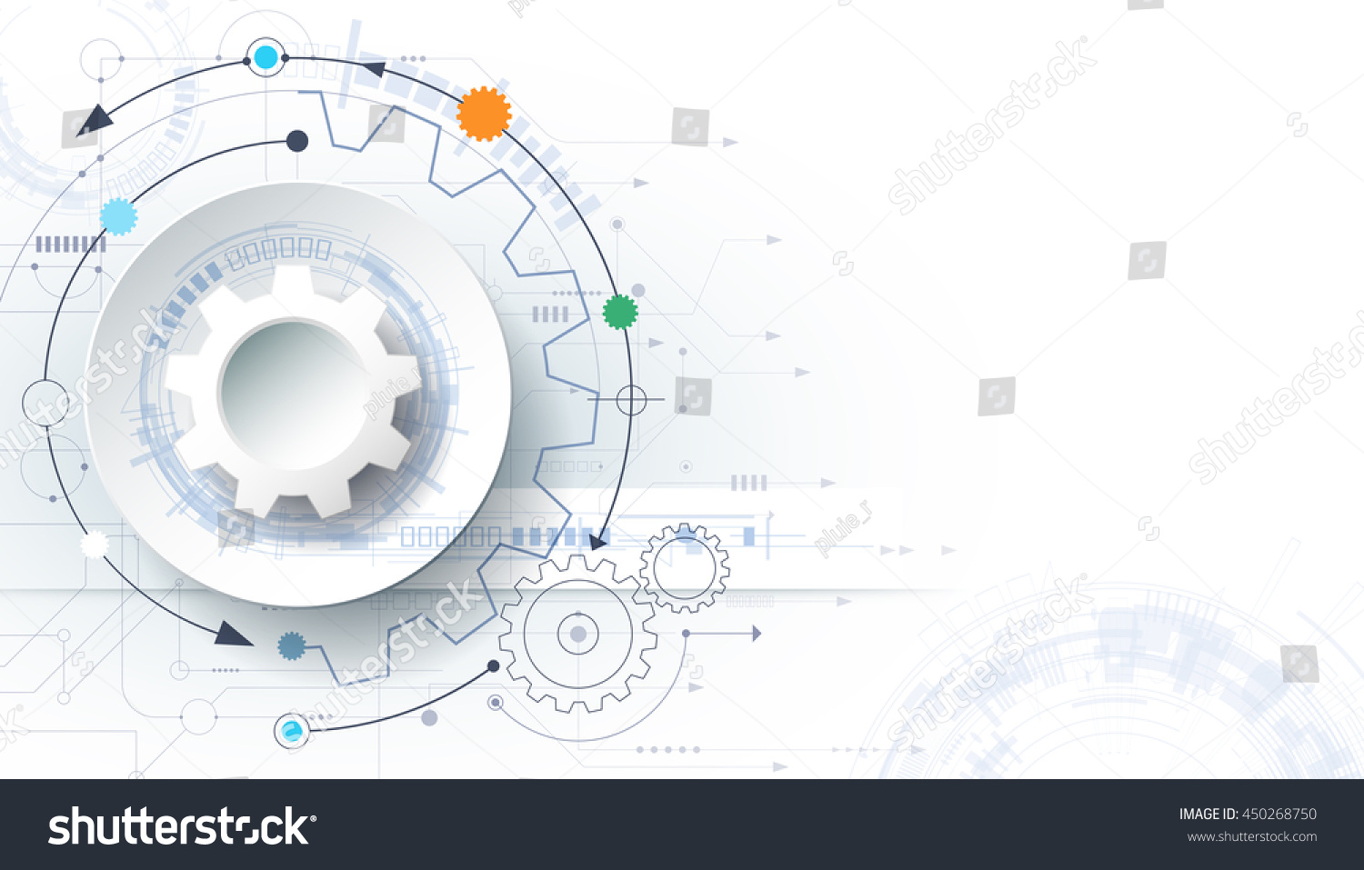 Futuristic Hi Tech Background Vector: Vector Futuristic Technology Background 3d White Stock