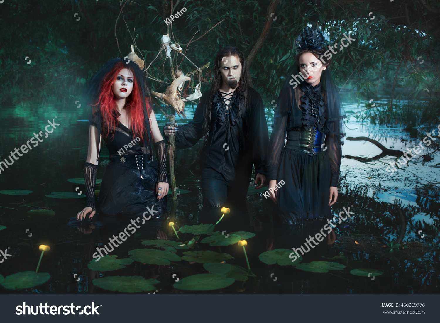 Night Swamp Mystical People They Demons Stock Photo (Edit Now