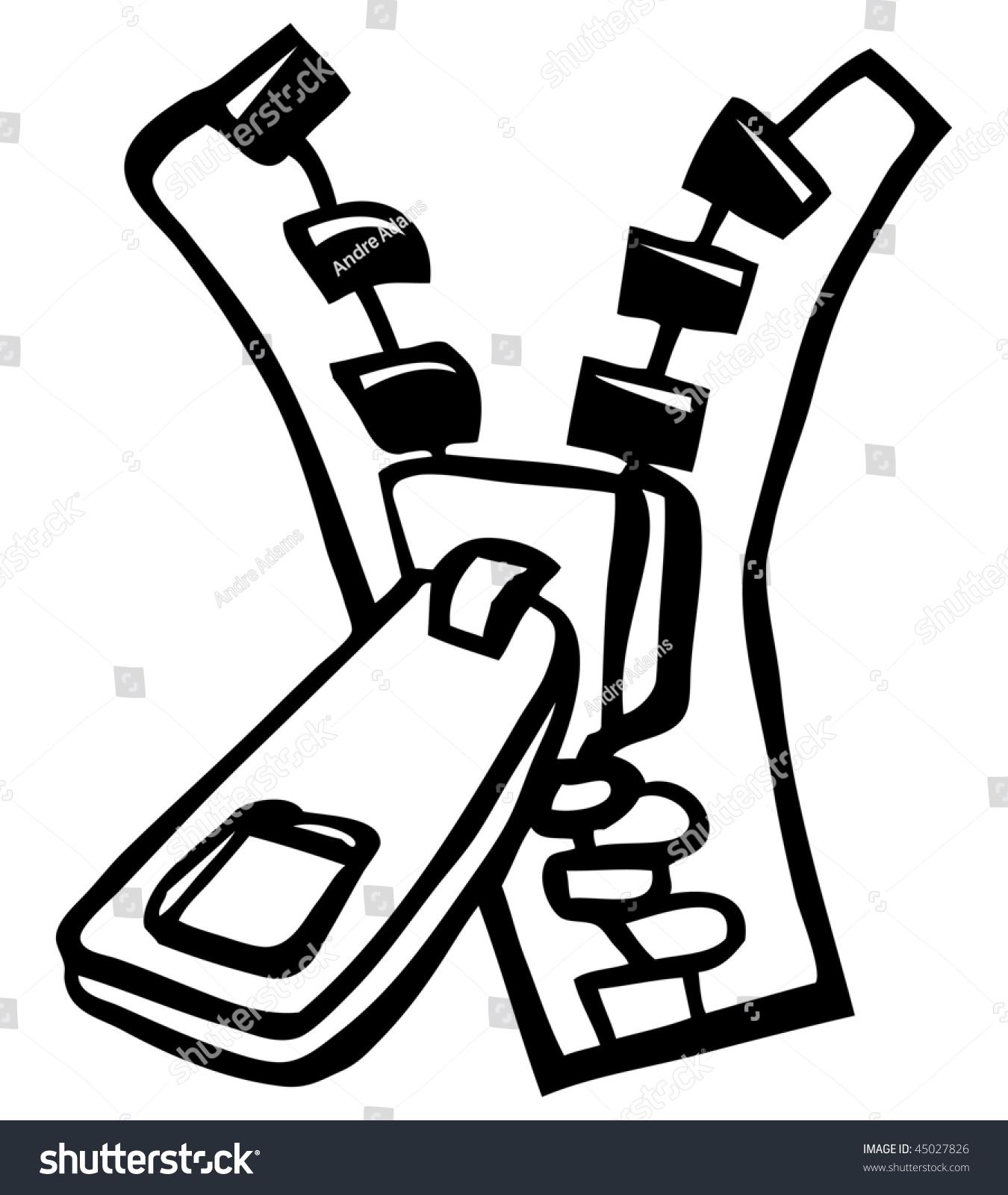 Zipper Line Art : Cartoon vector outline illustration zipper stock