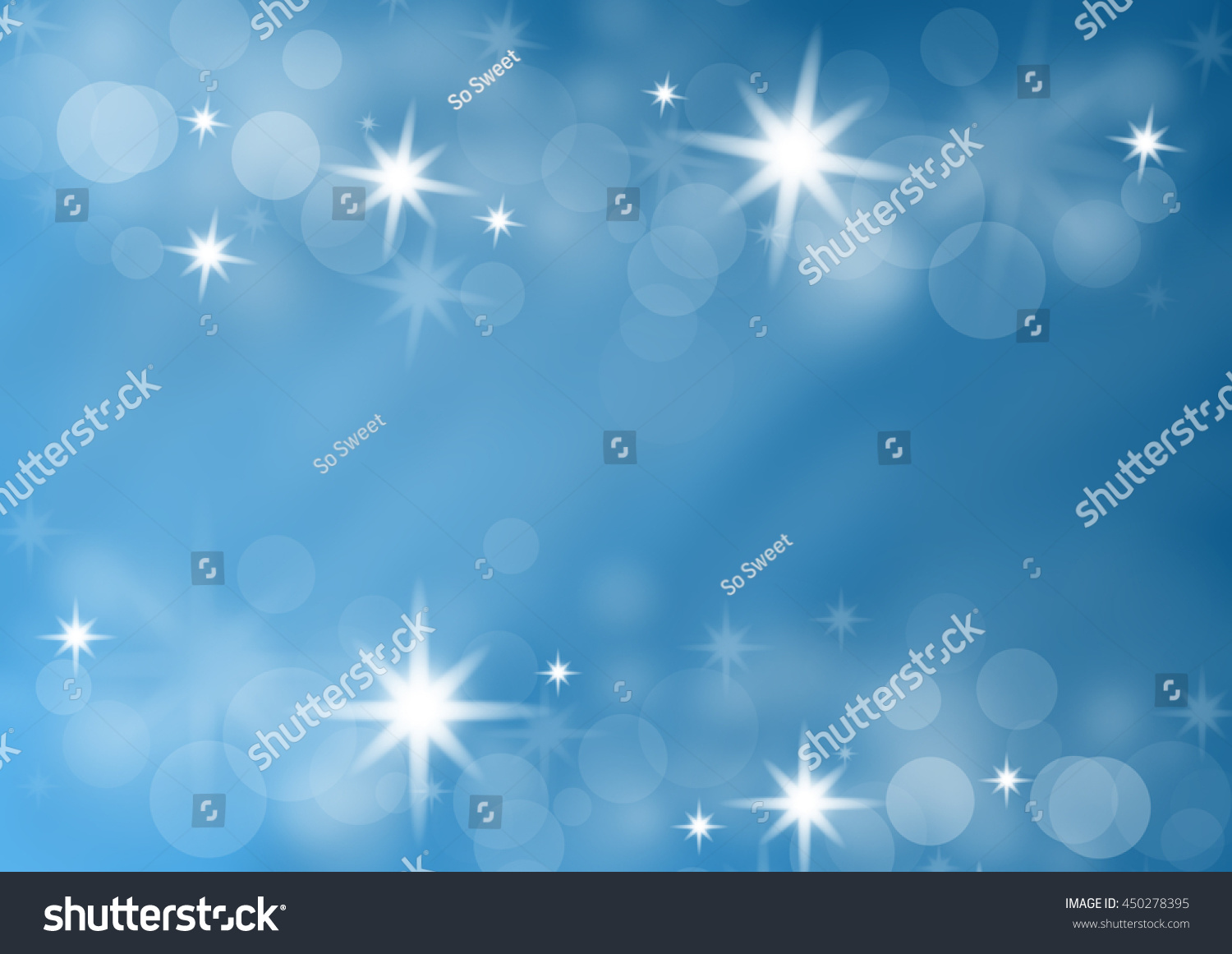 Abstract Bokeh Blue Background Stock Photo 450278395 ...