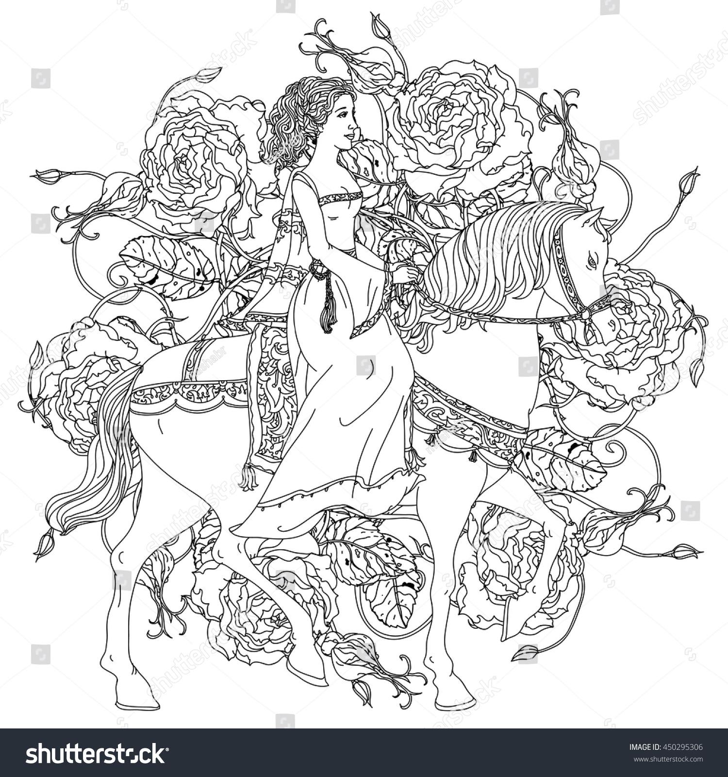 beautiful women image princess fairy tale stock vector 450295306
