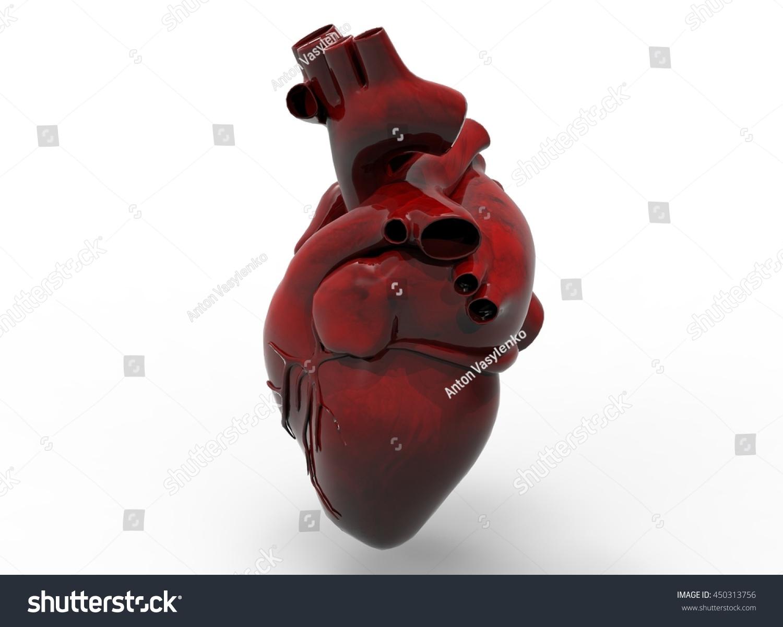 3 D Illustration Heart Icon Game Web Stock Illustration 450313756 ...