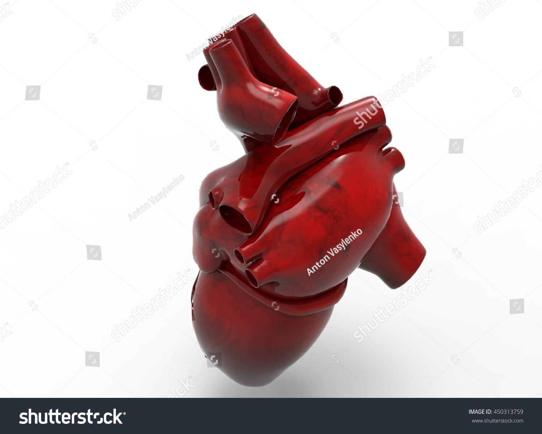 3 D Illustration Heart Icon Game Web Stock Illustration 450313759 ...