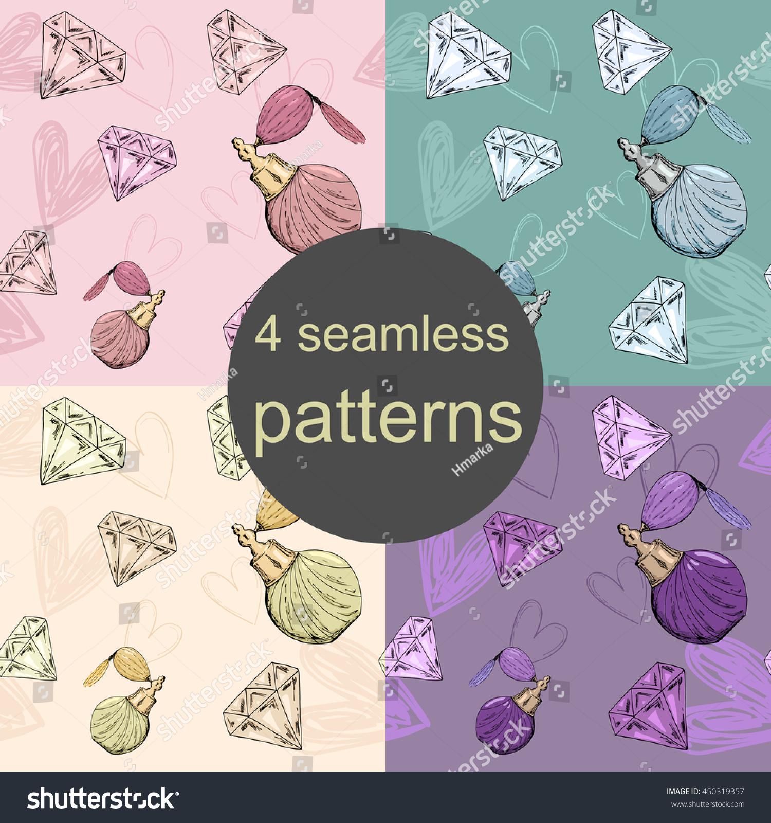 Stock vektory na téma 4 Seamless Glamour Patterns (bez autorských ... 1013b943d1