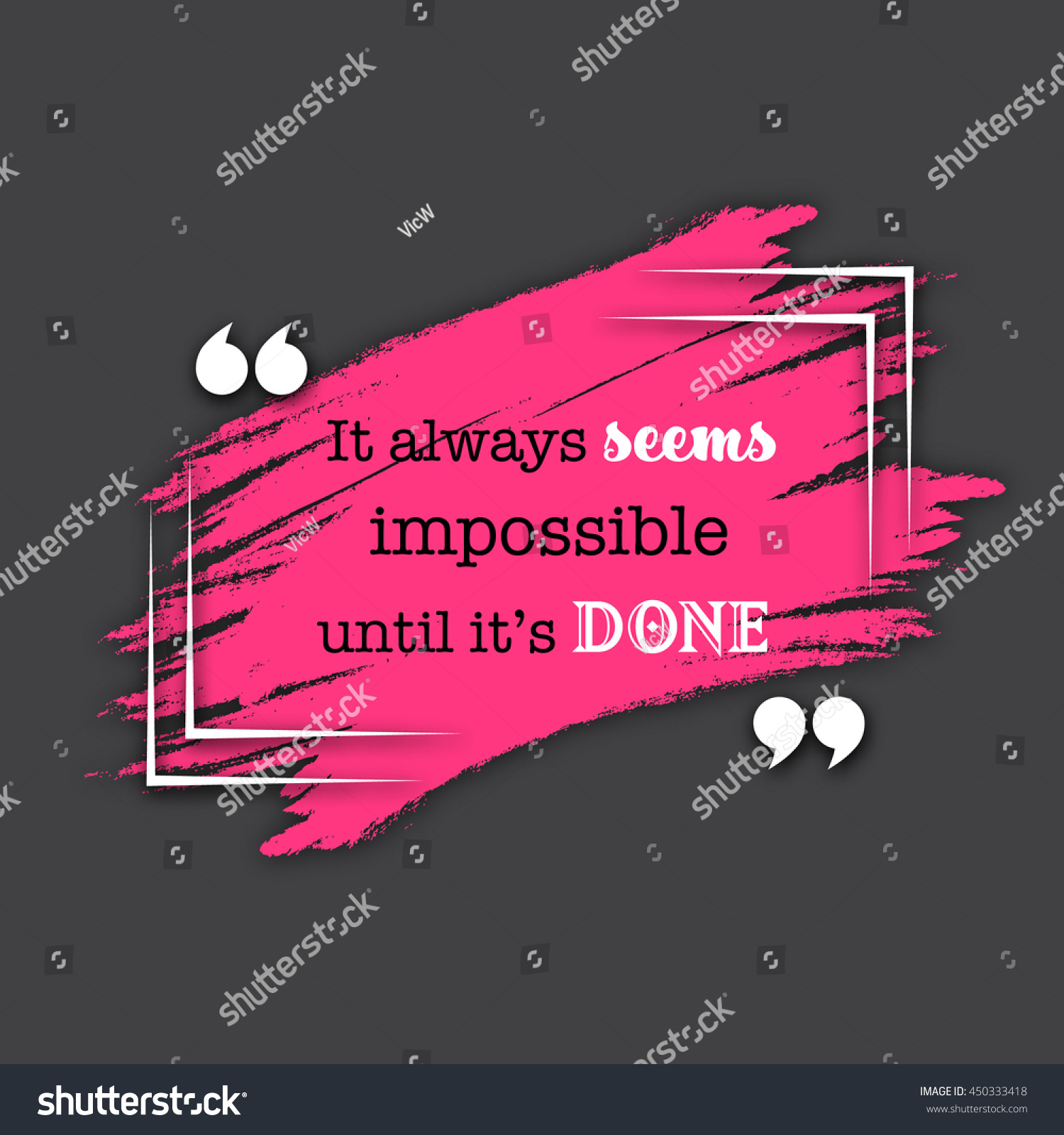 quote template conceptual brackets grunge brush stock vector