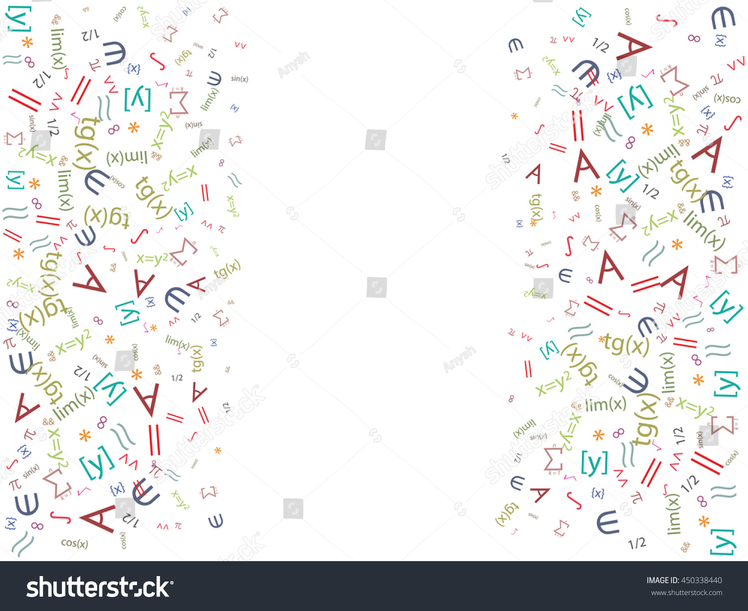 Abstract Background Is In Mathematical Symbols And Formulas Ez Canvas