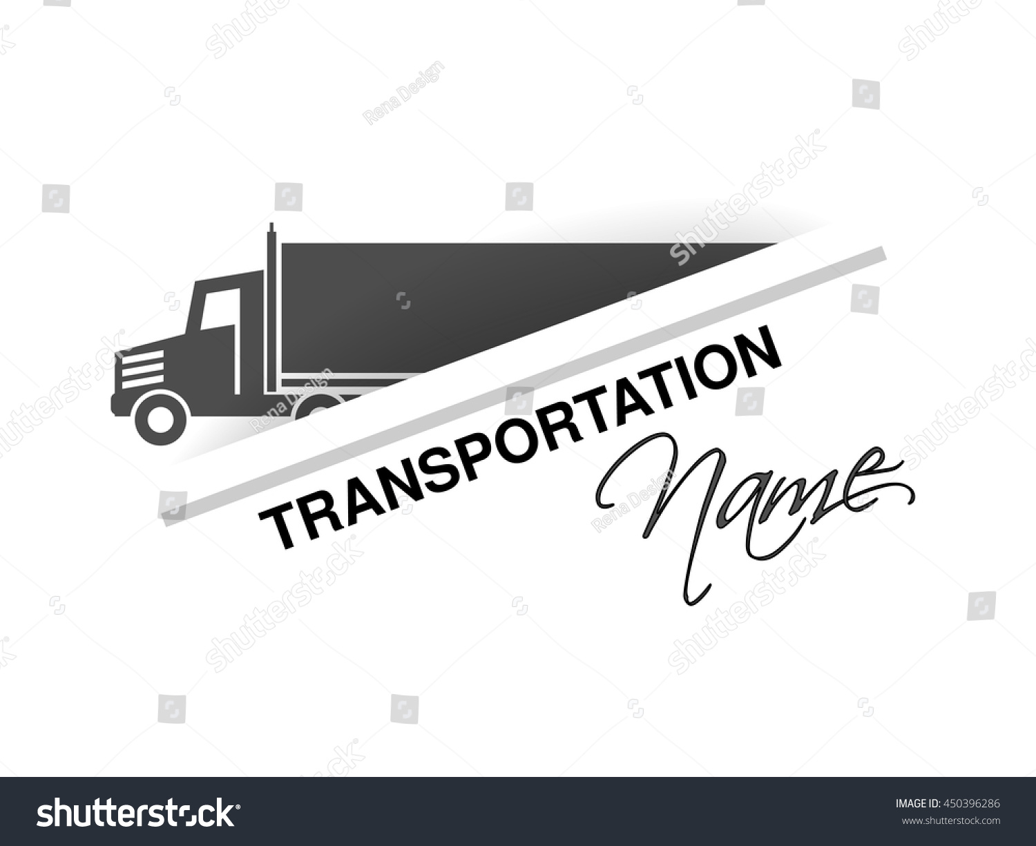 Vector Symbol Transport Silhouette Truck Lorry Stock Vector Royalty