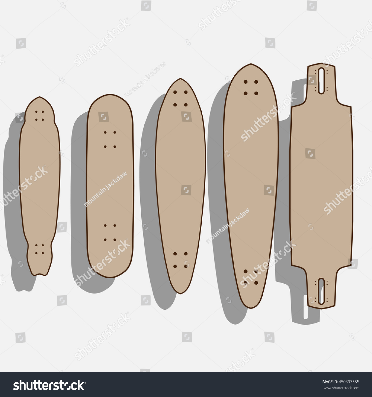 longboard template maker - drop through longboard template