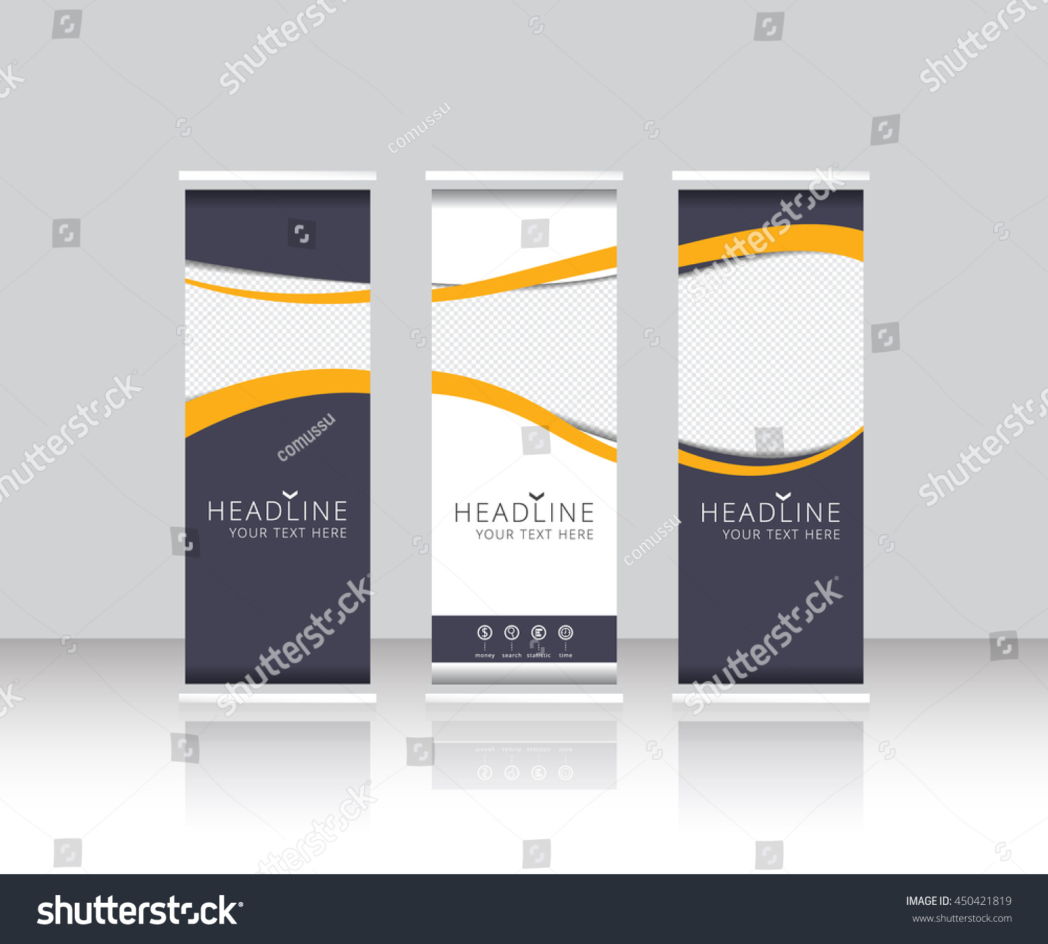 Roll Banner Stand Template Design Vector Stock Vector 450421819 ...