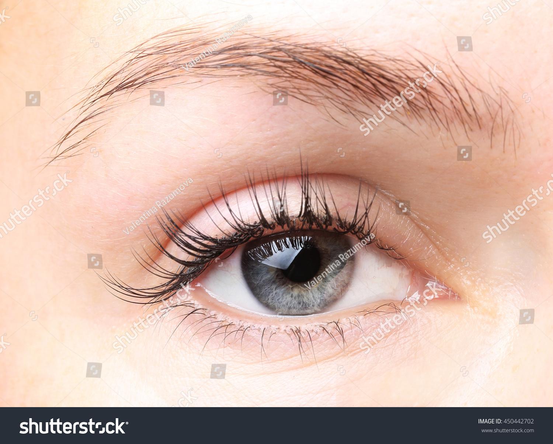 2fc83379eab Female Eye Long Eyelashes Without Makeup Stock Photo (Edit Now ...