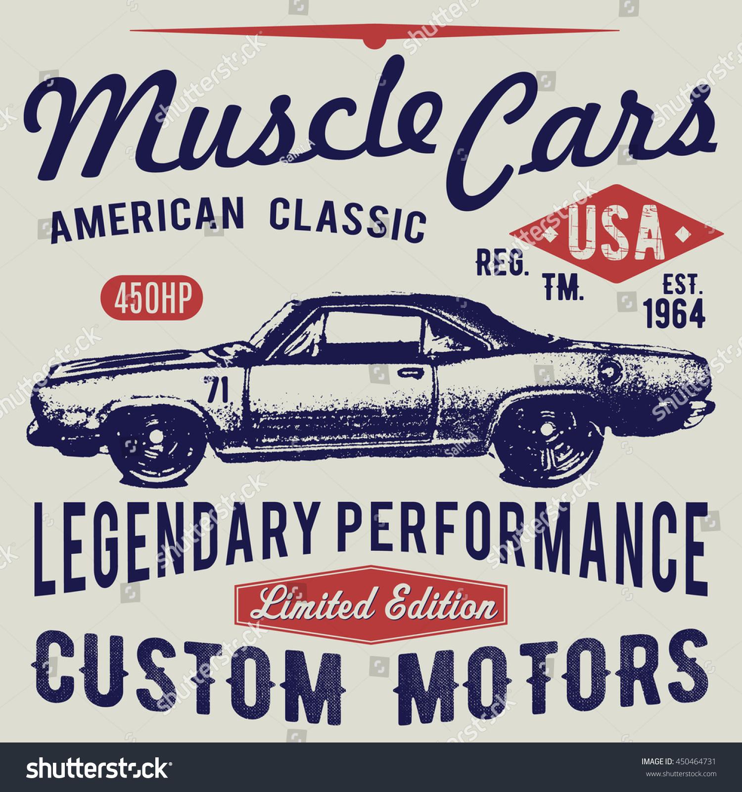 Tshirt Typography Design Retro Car Printing Stock Illustration ...
