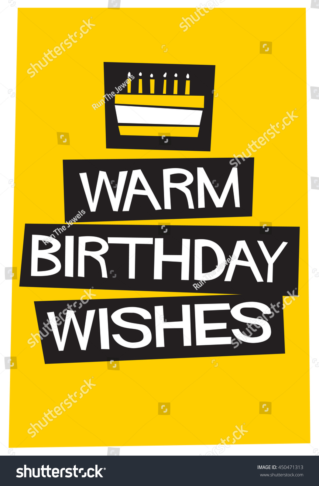 Warm Birthday Wishes Written On Cake Stock Vector Hd Royalty Free
