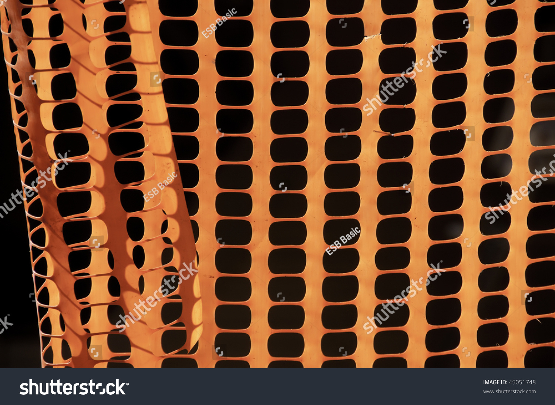 orange plastic safety fence warning
