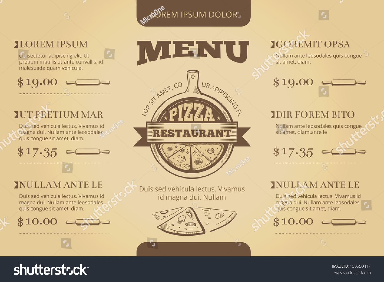 Restaurant cafe pizzeria menu vector template stock vector restaurant cafe pizzeria menu vector template design menu for restaurant illustration template menu for pronofoot35fo Gallery
