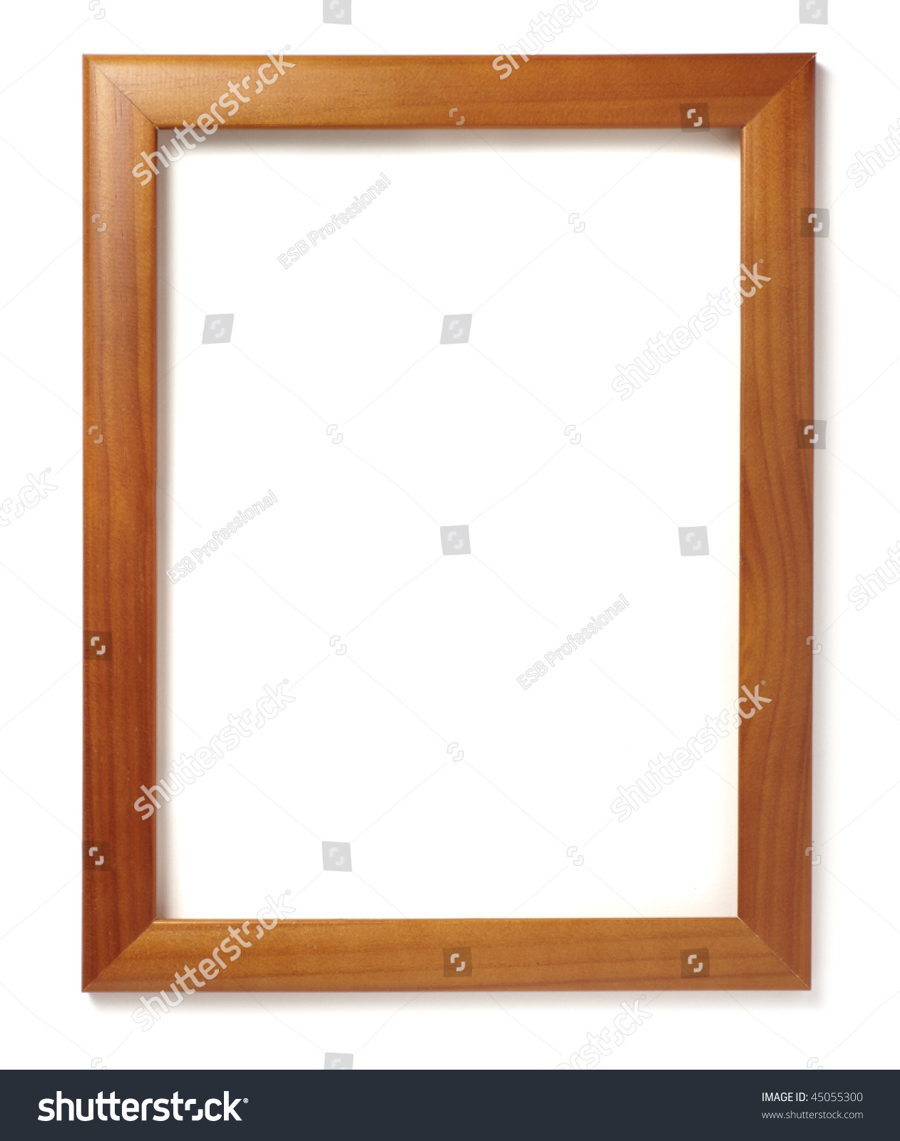 Wooden Frame Painting Picture On White Stock Photo (Royalty Free ...