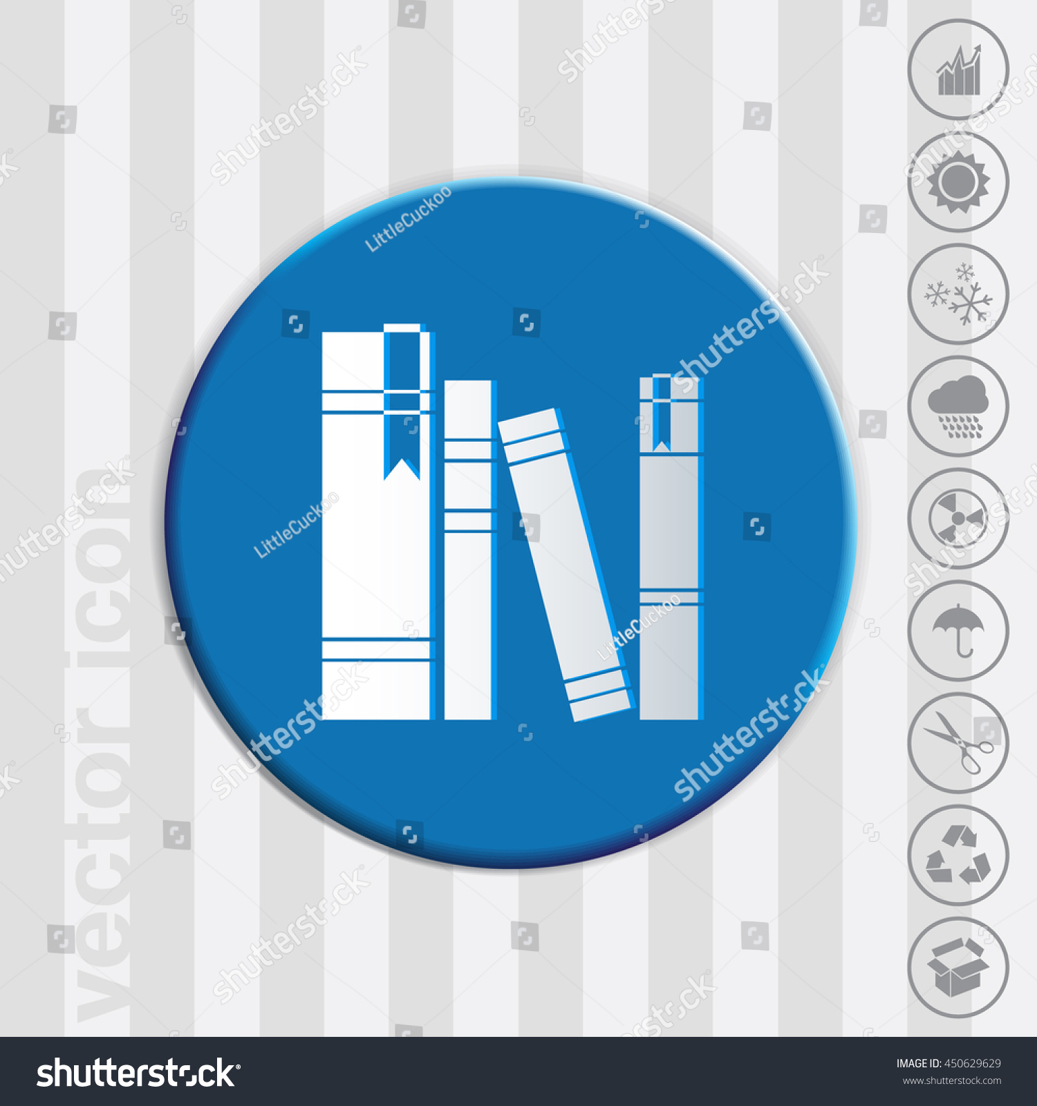 Book Spine Spines Books Icon Symbol Stock Vector Royalty Free