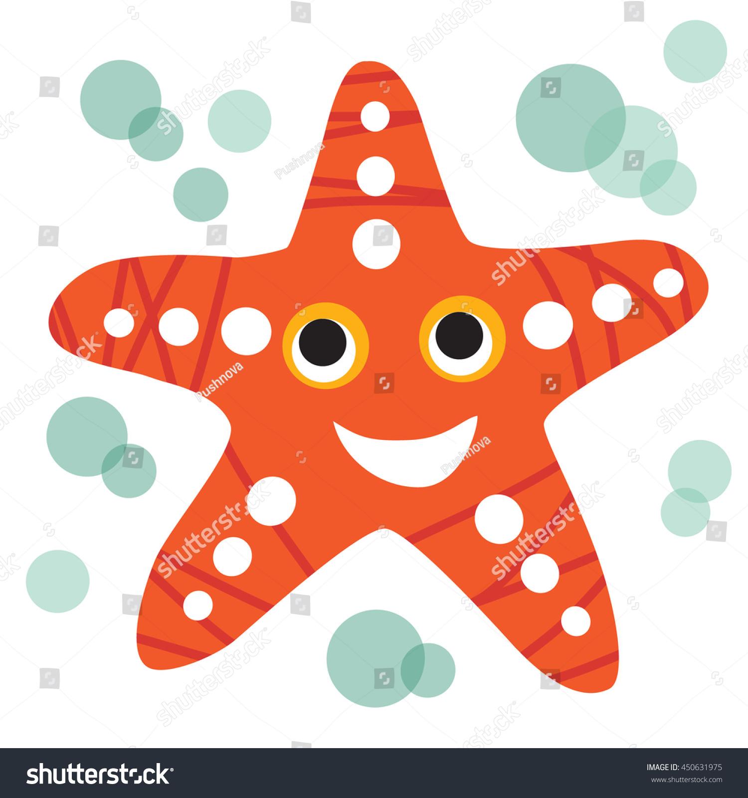 Illustration Cute Smiling Starfish Vector Format Stock Vector ...