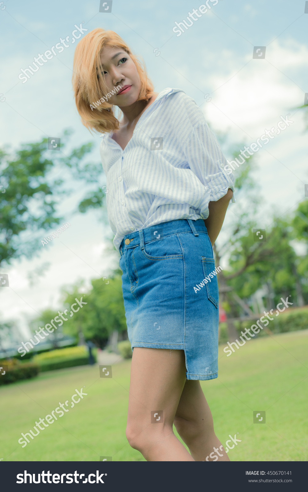 d09c9a0ea Summer Outfits With Jean Skirts