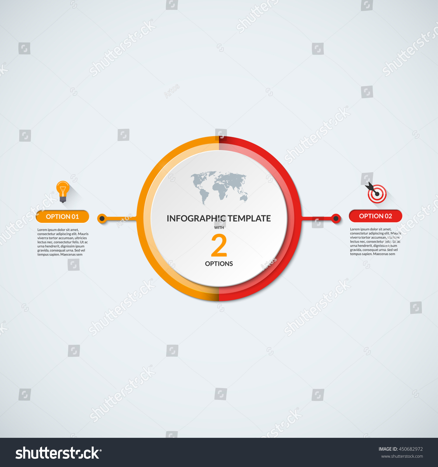 infographic circle diagram template business concept のベクター画像