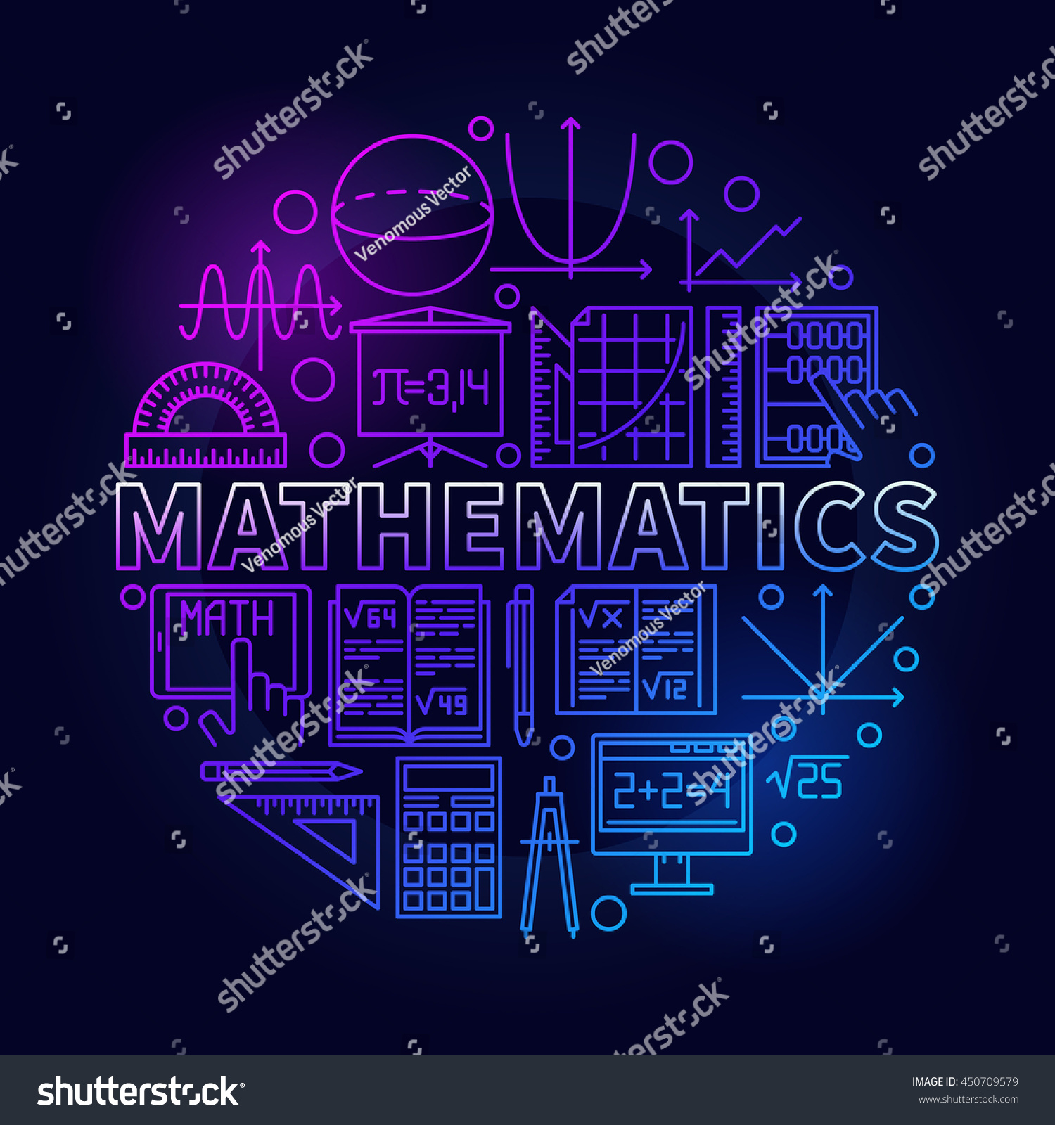 Math linear symbol vector bright round stock vector 450709579 math linear symbol vector bright round school education mathematical symbol or circle background design biocorpaavc Choice Image