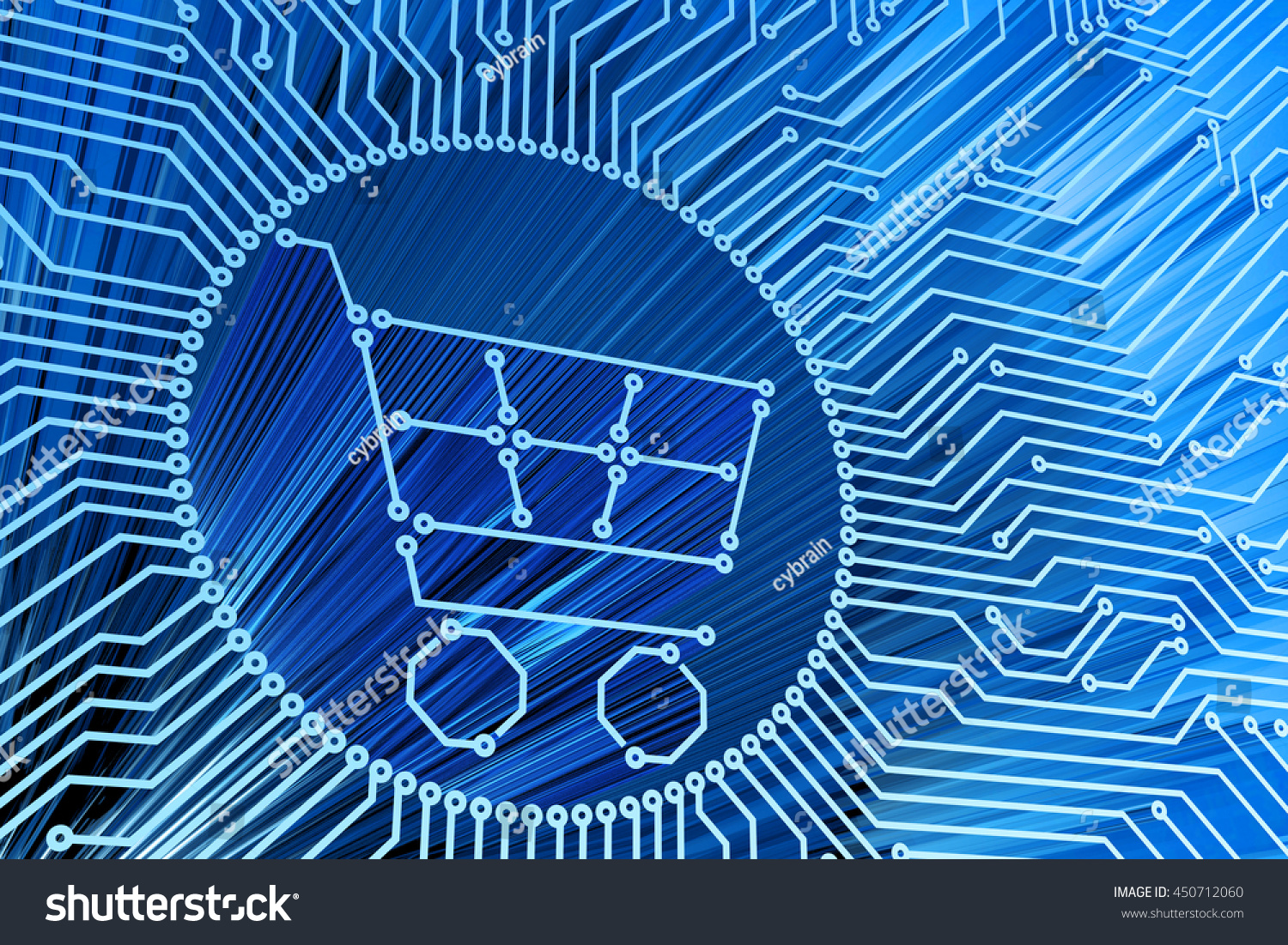 Ecommerce Internet Shopping Online Purchases Computer Stock Circuit Design E Commerce Technology And Electronic Concept